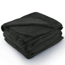 Tmavosivá deka z mikrovlákna AmeliaHome Tyler, 220 × 240 cm