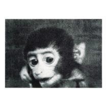 Sivá rohožka Mint Rugs StateMat Monkey, 50 × 75 cm