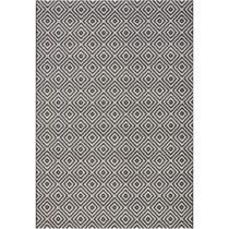 Čierny koberec vhodný aj do exteriéru Karo, 200×&...