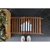 Drevená rohožka Doormat Woodie, 64×40 cm