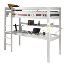 Biela poschodová posteľ s pracovným stolom Vipack Pino, 200&am...