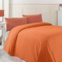 Oranžová ľahká prikrývka cez posteľ Oranj, ...
