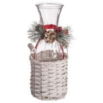 Karafa v úložnom košíku Unimasa Christmas