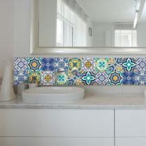 Sada 9 nástenných samolepiek Ambiance Azulejos Vintage Arabesques, 10 × 1...