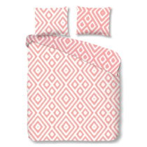 Ružové obliečky na dvojlôžko z bavlny Good Morning F...