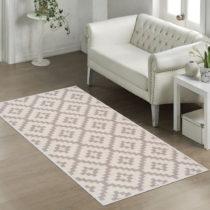 Odolný bavlnený koberec Vitaus Art Bej, 60×90&#xA...