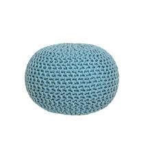 Tyrkysový pletený puf LABEL51 Knitted