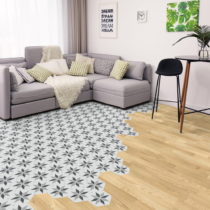 Sada 10 samolepiek na podlahu Ambiance Floor Stickers Hexagons Perina, 40×&#x...