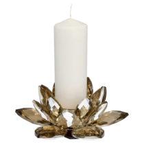 Svietnik zo skla v zlatej farbe Green Gate Lotus