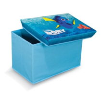 Modrá úložná taburetka na hračky Domopak Finding Dory...
