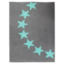 Detský sivý koberec s mentolovozelenými detailmi koberec Hanse Home Star,...