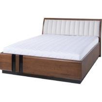 Dvojlôžková posteľ s béžovým polst...