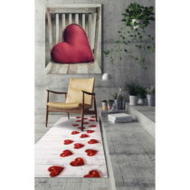 Vysokoodolný behúň Webtappeti Hearts, 58×28...
