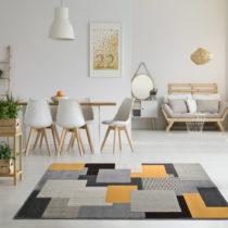 Sivý koberec Universal Leo Square, 80 × 150 cm