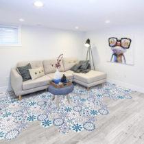 Sada 10 samolepiek na podlahu Ambiance Floor Stickers Hexagons Tisila, 40×&#x...