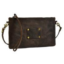 Tmavohnedá kožená kabelka O My Bag The Betsy