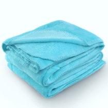 Tyrkysová deka z mikrovlákna AmeliaHome Tyler, 220 × 240 cm