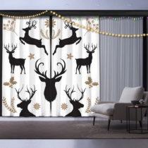 Sada 2 vianočných závesov Christmas Deer