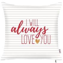 Obliečka na vankúš Apolena Always Love You, 43 x 43 cm