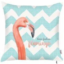 Modrá obliečka na vankúš Apolena Zigzag Flamingo, 43...