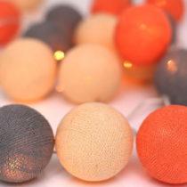 Svetelná reťaz Irislights Peach Marble,10guľ&#x...