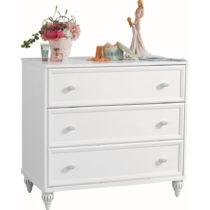 Biela komoda Romantica Dresser