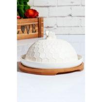 Biela nádoba na maslo Kutahya Doris