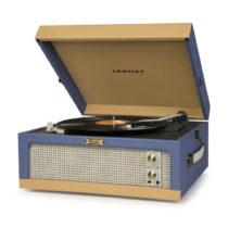 Modro-hnedý gramofón Crosley Dansette Junior