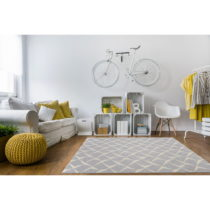 Vysokoodolný koberec vhodný do exteriéru Floorita Rete Silver,1...