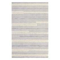 Sivý koberec Mint Rugs Handira Stripes, 77 × 150 cm