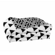 Čierno-biela obojstranná prikrývka z mikrovlákna DecoKing Hypno...