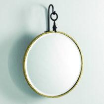 Nástenné zrkadlo se zlatým rámem Thai Natura, ∅ 45 cm