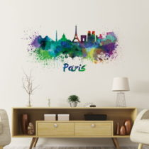 Nástenná samolepka Ambiance Wall Decal Paris Design Watercolor, 60 &#...