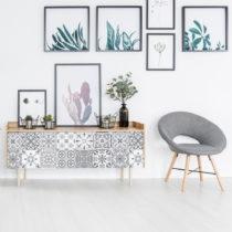 Sada 24 samolepiek na nábytok Ambiance Tiles Stickers For Furniture Cerena, 15&am...