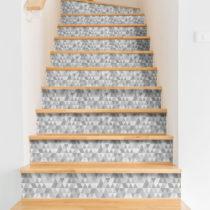 Sada 2 samolepiek na schody Ambiance Stairs Stickers Hege, 15 × 105 cm