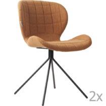 Sada 2 hnedých stoličiek Zuiver OMG