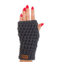 Tmavosivé ručne háčkované návleky DOKE Daria
