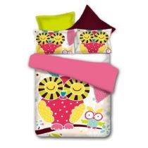 Obojstranné obliečky z mikrovlákna DecoKing Owls Funnystory, 135&#xA...