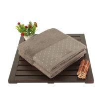 Sada 2 hnedých bavlnených uterákov Patricia, 50 × 90 cm