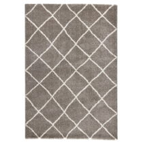 Hnedý koberec Mint Rugs Grid, 80 × 150 cm