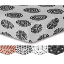 Sivá elastická plachta so vzorom DecoKing Hypnosis Fossil, 160×...