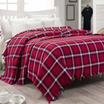 Ľahká prikrývka cez posteľ Iskoc Red,200&a...