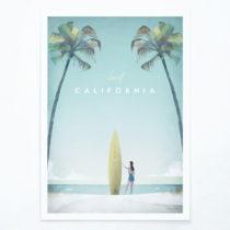 Plagát Travelposter California, A3