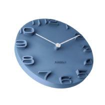 Modré hodiny Karlsson On The Edge, Ø42 cm