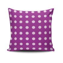 Vankúš s výplňou Purple Dots, 45x45&#x...