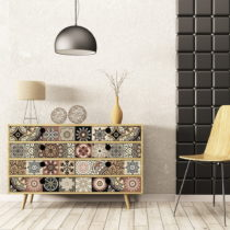 Sada 30 samolepiek na nábytok Ambiance Tiles Stickers For Furniture Cineloto Mento, 20&...