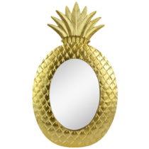 Nástenné zrkadlo v zlatej farbe Le Studio Gold Pineapple