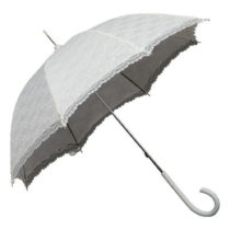 Biely tyčový dáždnik Ambiance Falconetti Victorian Lace, &...