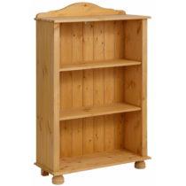 Nízka hnedá knižnica z masívneho borovicového dreva St...