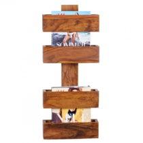 Stojan z masívneho palisandrového dreva na časopisy Skyport Candela